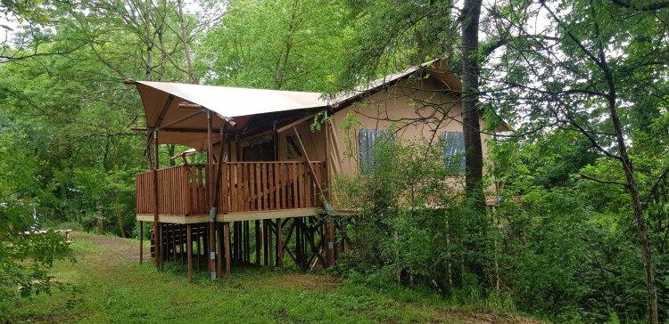 Tente Safari Toile et Bois Camping Ardèche